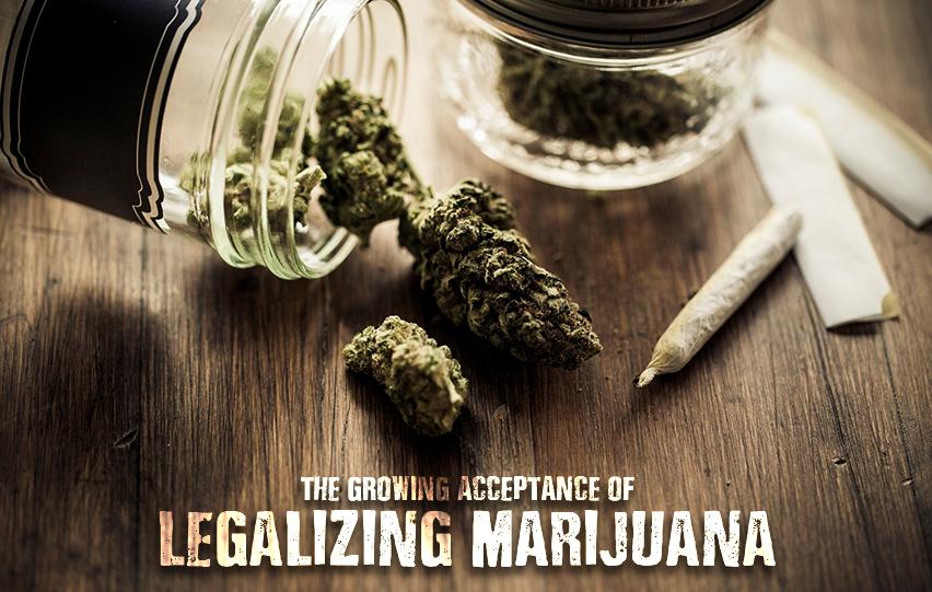 growing acceptance of legalizing marijuana